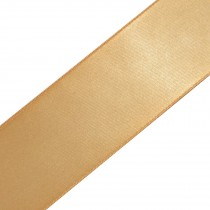 Double Satin Ribbon 10mm wide Old Gold 3 metre length