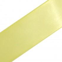 Double Satin Ribbon 25mm wide Lemon 3 metre length