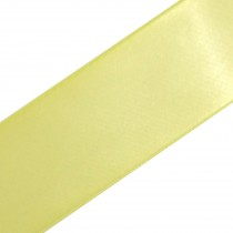 Double Satin Ribbon 38mm wide Lemon 3 metre length