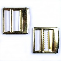 Metal Waistcoat Vest Buckle 2.7cm x 2.7cm Gold Pack of 2