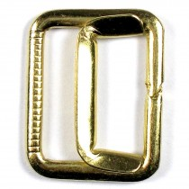 Metal Waistcoat Vest Buckle 2.5cm x 2cm Gold Pack of 1