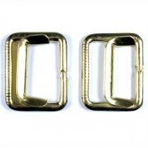 Metal Waistcoat Vest Buckle 2.5cm x 2cm Gold Pack of 2