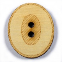 Wooden Number Buttons 2cm to 3cm 0 Pack of 1