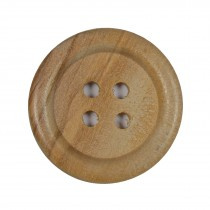 Large Round Wooden 4 Hole Feature Buttons 38mm Pack of 1