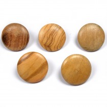 Wooden Round Shank Buttons 20mm Pack of 5