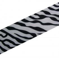 Black & White Zebra Print Grosgrain Ribbon 38mm wide 3 metre length