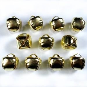Cat Bells Sleigh Jingle Bells 12mm Gold Pack of 10
