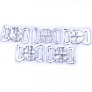 Clover Bikini Clasp Fastener Clear Transparent 34mm x 24mm Pack of 5