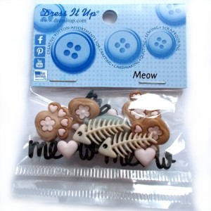 Dress it Up Buttons - Meow