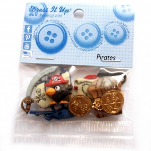 Dress it Up Buttons - Pirates
