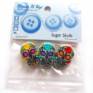 Dress it Up Buttons - Sugar Skulls