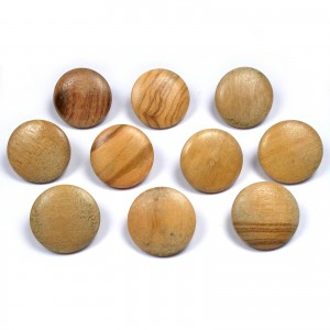 Wooden Round Shank Buttons 18mm Pack of 10