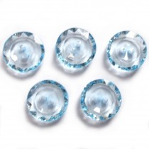 Cut Edge Pastel Round 2 Hole Buttons 13mm Blue Pack of 5