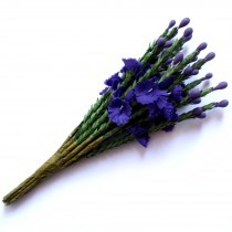 Artificial Heather 12cm Tall Purple