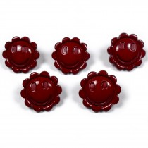 Smiley Face Sunshine Flower Daisy Buttons 15mm Red Brown Pack of 5